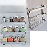 Stainless Steel Kitchen Spice Shelf Rack Kitchen Organizer Wall Mount
