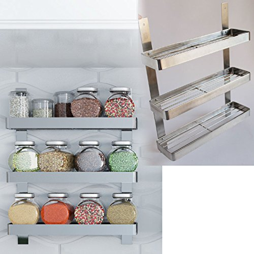 Kitchen Wall Accessories Stainless Steel: Stainless Steel Kitchen Spice Shelf Rack Kitchen Organizer
