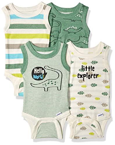 ecee857cf13ed Gerber Baby Boys 4-Pack Sleeveless Onesies Bodysuit