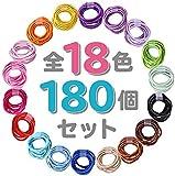髪ゴム 子供 ヘアゴム こども キッズ【全18色180個!!】