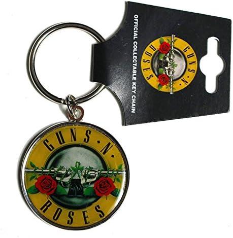 Offiziell Guns N Roses Farblogo Aus Metall Schlüsselanhänger Küche Haushalt