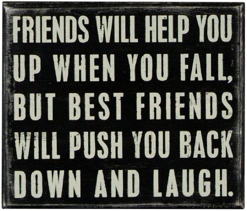 """Primitives by Kathy Classic Box Sign 7"""" x 6"""" Friends Will Help You"""