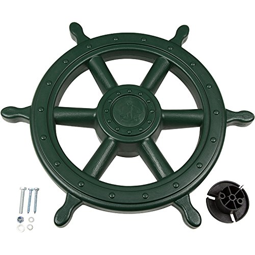 Swing Set Stuff Ships Wheel with SSS Logo Sticker Playset, Green