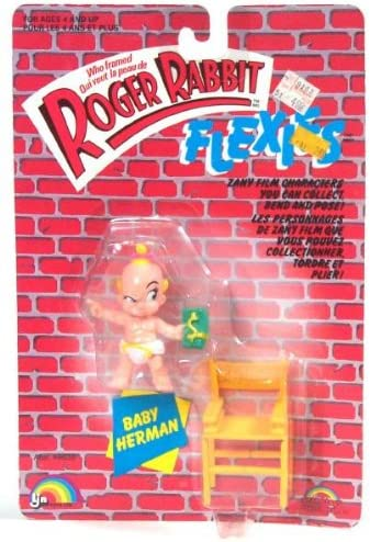 Amazon Com Roger Rabbit Who Framed Flexies Baby Herman Bendie Action Figure 1988 Ljn Toys Games