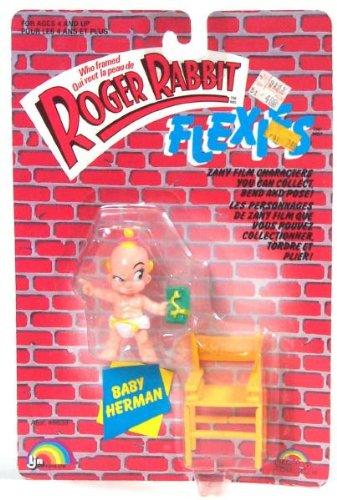 Who Framed Roger Rabbit Flexies: BABY HERMAN Bendie Action Figure (1988 -