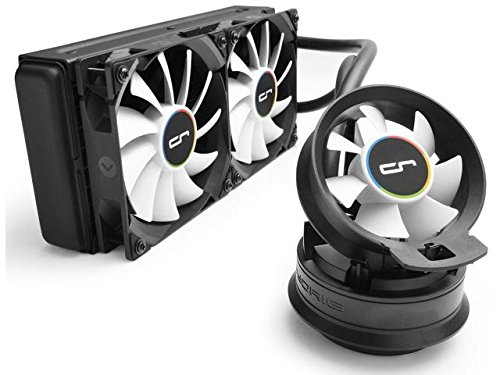 CRYORIG A40 Ultimate Hybrid Liquid Cooler 240mm x 38mm Thick Radiator with Additional Airflow Fan.