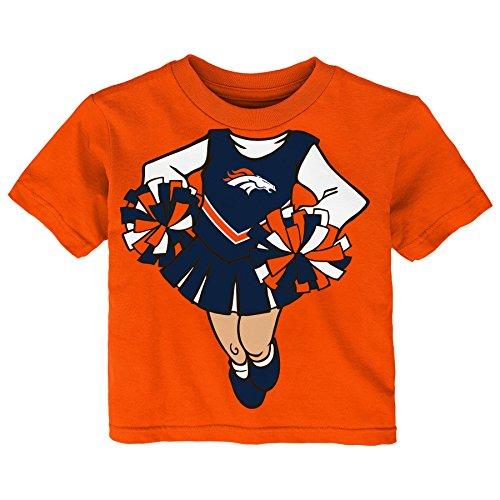 Outerstuff NFL Infant Dream Cheerleader Short Sleeve Tee-Orange-12 Months, Denver -