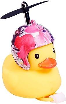 Haorw Fahrradhupe Gelbe Ente Mit Helm Und Licht Fahrradklingel Fahrradzubehör Für Rennrad Mtb 16 Arten Küche Haushalt