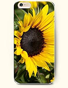 SevenArc Phone Case for iPhone 6 Plus 5.5 Inches with the Design of A beautiful sunflower