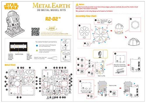 032309012507 - Fascinations Star Wars R2D2 Model Kit Metal Earth Fascinations carousel main 3