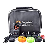 Aetertek AT-216D 600 Yard Remote Dog Training Shock Collar Water-proof with beep vibration For 3 Dogs For Sale