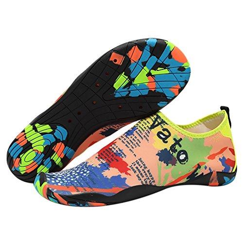 Barefoot slip Womens Beach Yoga Swim Walking Map Dry for Lightweight Shoes Water Shoes Exercise Mens Surf Zhengpin Quick Non xqFpzt