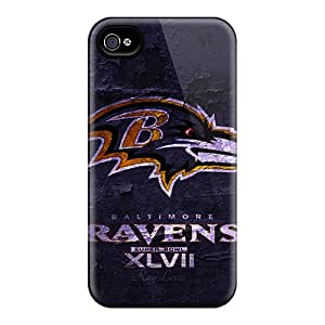BRH293PAtA Baltimore Ravens Fashion Tpu 4/4s Case Cover For Iphone