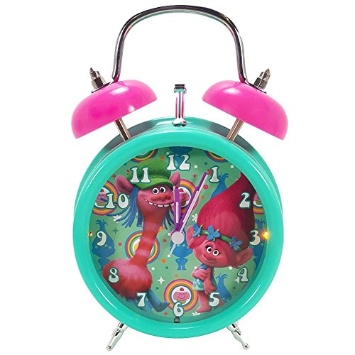 Trolls Alarm Clock Girls Room Light Up Poppy Bell Alarm