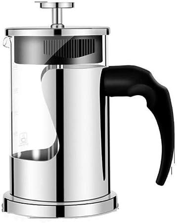 Hokaime Cafetera Manual Presión de filtración de café 350ML / 600ML / 800ML Prensa Francesa Tetera Tetera de Vidrio Resistente a Altas temperaturas con Filtro, 800cc: Amazon.es: Hogar