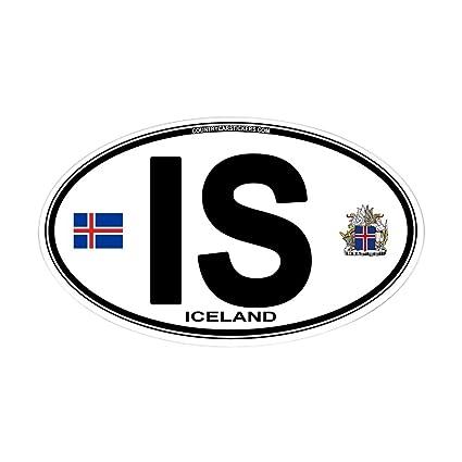 Amazon Com Cafepress Iceland Euro Oval Oval Bumper Sticker Euro