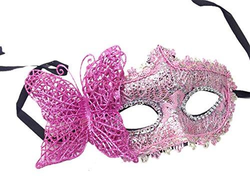 Demarkt Masquerade Butterfly Halloween Cosplay Costume Eye Mask (Butterfly Feather Eye Mask)