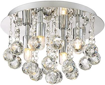 Style Selections 11 75 In W Polished Chrome Flush Mount Light Electronics
