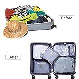 6 Set Packing Cubes Travel Luggage Organizer Travel