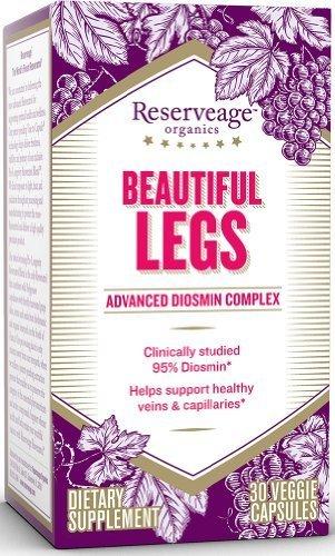 Reserveage Organics Beautiful Legs advanced Diosmin Complex (30 Vegetarian Capsules, Certified Organic) by Reserveage Organics