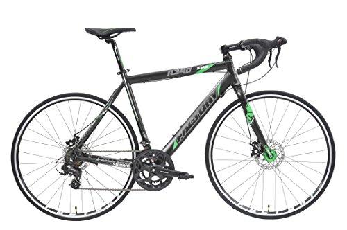 Factory R340-700C 14SP Road Bike, Black/Green Reflective, 57cm/Large Bike Rassine
