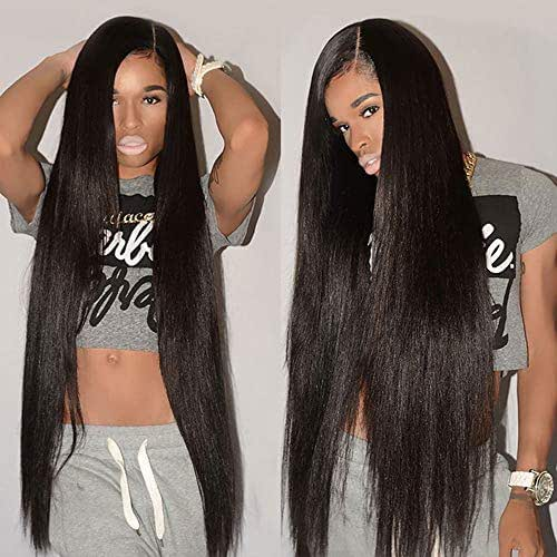 Sterly 360 Lace Frontal Wig Pre Plucked With Baby Hair Lace Front Wigs Human Hair Straight Human Hair Wigs Natural Hairline For Black Women(24inch)