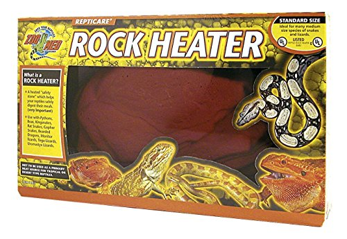 Reptile Rock Heaters (Giant Size, Heats Evenly No Hot Spots Rock Heater)