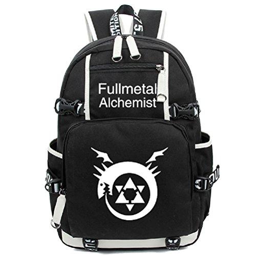 YOYOSHome Fullmetal Alchemist Anime Cosplay Noctilucence Messenger Bag Backpack School Bag - Alchemist Full Metal Messenger Bag