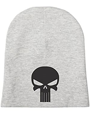 Black Punisher Skull Infant Baby Beanie Cap Winter Hat One Size