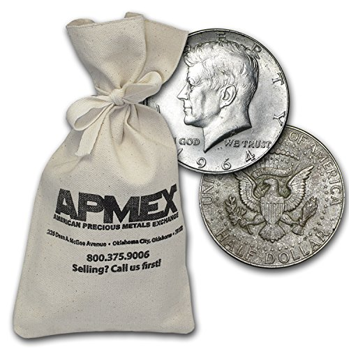 1964 Silver Kennedy Half-Dollars $500 Face-Value Bag (1964) Half Dollar Very Good