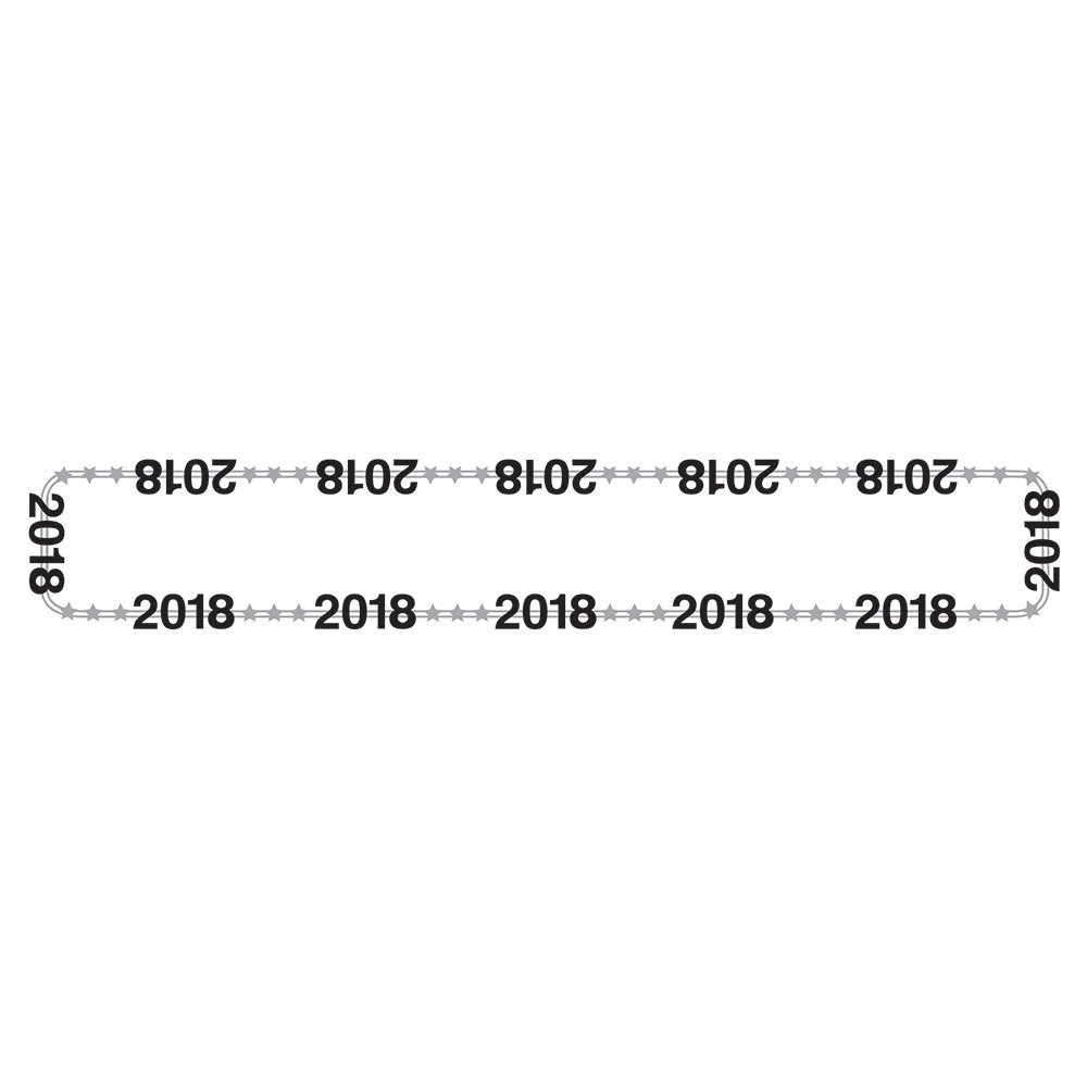 2018 Creative Converting 324390 12-Count New Year Plastic Necklaces