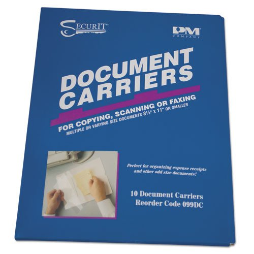 Document Carrier for Copying, Scanning, Faxing, 8 1/2'' x 11'', Clear, 10/Pack, Sold as 1 Package, 10 Each per Package (Pm Accufax Fax Document Carrier)