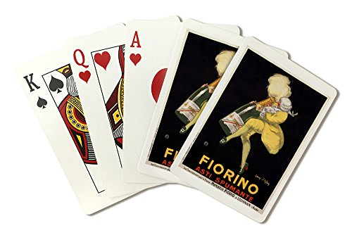 Fiorino - Asti Spumante Vintage Poster (artist: d'Ylen) France c. 1922 (Playing Card Deck - 52 Card Poker Size with Jokers) ()