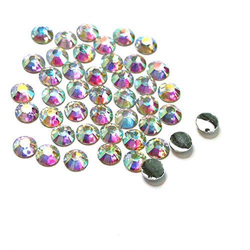 LOVEKITTY AB Clear - 500 Pc 3mm & 5mm Mixed Acrylic Rhinestones Round Flatback 14-facet (High - Iridescent Beads Acrylic Faceted