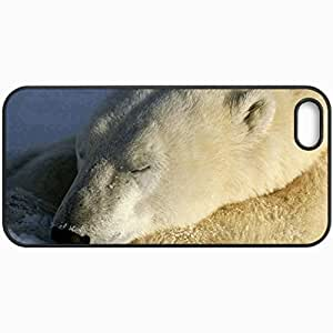 Customized Cellphone Case Back Cover For iPhone 5 5S, Protective Hardshell Case Personalized Polar Bear Black
