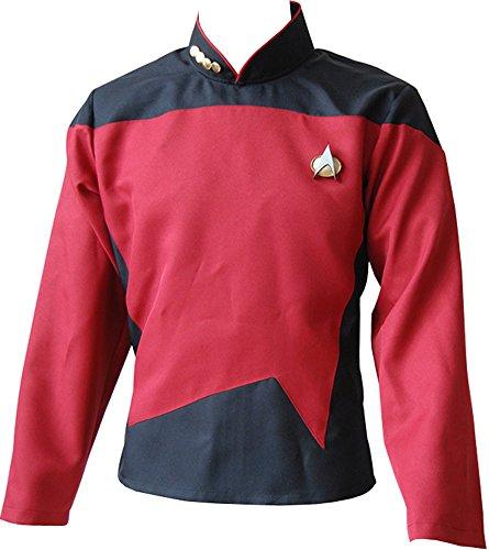 CosplaySky Star Trek Costume The Next Generation Uniform Red Shirt (Star Trek Tng Uniform)