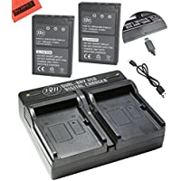 BM Premium 2-Pack of BLS-1, BLS-5 Batteries and USB Dual Battery Charger for Olympus E-P3, E-PM1, E-PL1, E-PL2, E-PL3, E-PL5, E-PL7, OM-D, E-M10, Stylus 1 Digital Camera