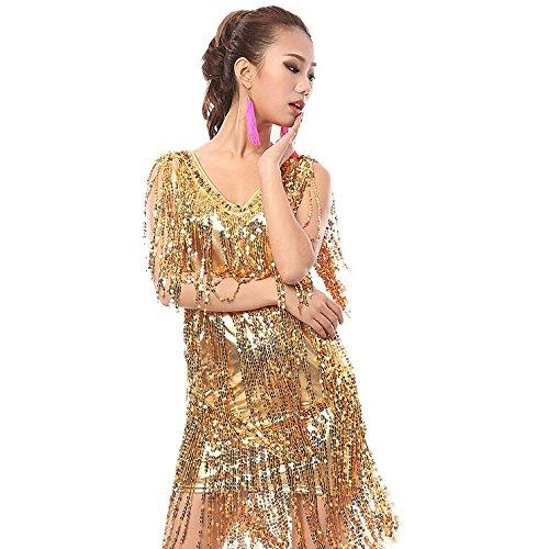 [해외]원피스 댄스 의상 춤 여성 라틴 무대 의상 반짝이 의상 무대 사교 춤 큰 크기 레드실버옐로우 MLXL2XL / One Piece dance costumes Dance Ladies Latin Stage Costumes sequin costumes stage Ballroom dance large size redsilverYellow MLXL2XL