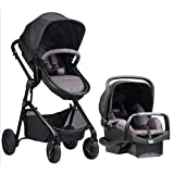 Evenflo Pivot Modular Travel System with Safemax Infant Car Seat - Casual Gray