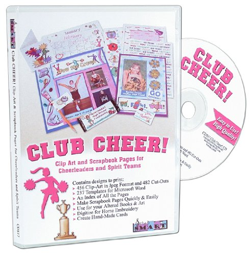 - ScrapSMART Club Cheer Software Clip Art and Scrapbook Pages for Cheerleaders, Spirit Teams, Parents, Coaches, and Camps - 538 Designs in Microsoft Word and 674 Jpeg Templates (CDS17)