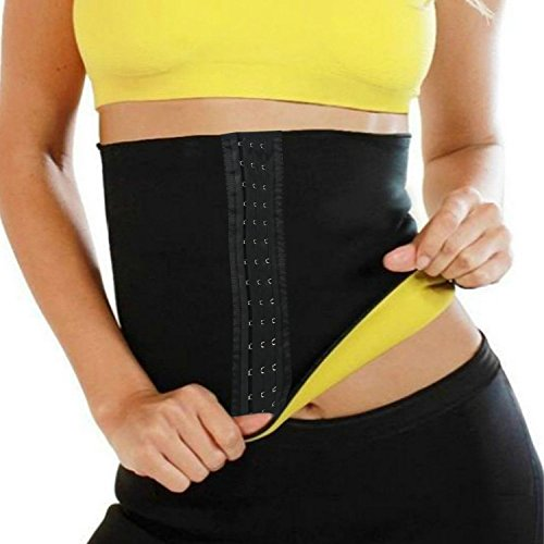 FUT Sweat Neoprene Sauna Shapers Slimming Belt Waist Cincher Girdle for Weight Loss Women & Men