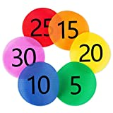 Carpet Spot Sit Markers x 30 Classroom Circles with Numbers 1-30 for Teachers (6 Colors)