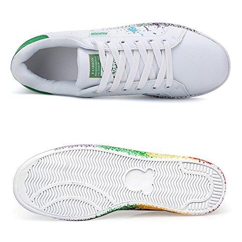 verde Uomo Sneakers Basse Donna Scarpe Scarpe Tennis JEDVOO Ginnastica da Running Foundation Pwpn17x