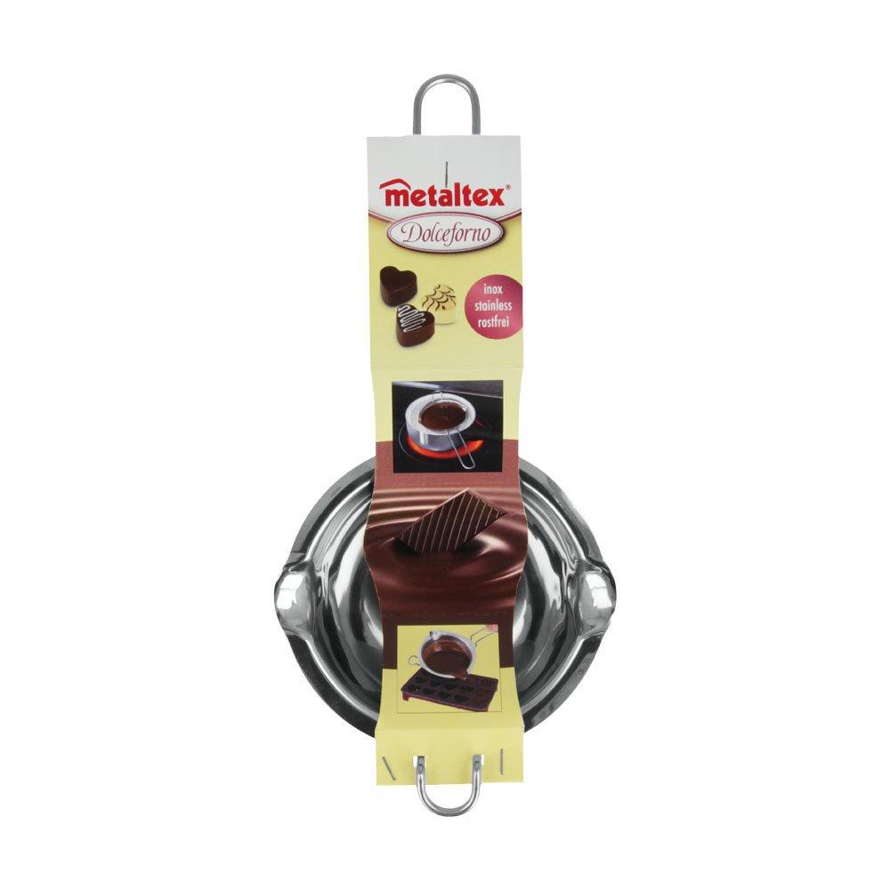 Metaltex 222202010 Pentolino per sciogliere il cioccolato a bagnomaria in acciaio INOX