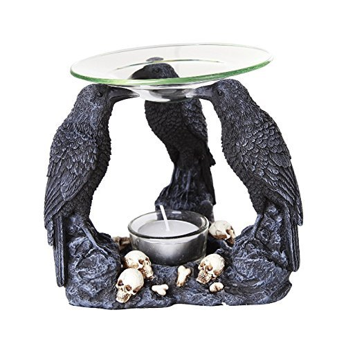 Pacific Giftware Ravens Crow Scented Oil Warmer Diffuser Collectible Figurine -