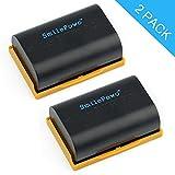 #10: SmilePowo 2 Pack LP-E6 Decode Battery 2600MAH for Canon LP-E6,LP-E6N,EOS 6D, 7D,80D,70D, 60D, 5D Mark III , 5D Mark II DSLR Cameras, BG-E14, BG-E13, BG-E11, BG-E9,BG-E6,BG-E7,LP-E6N,Battery Grips
