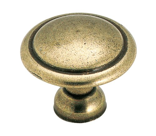 Amerock 848LB Allison Value 1-3/8in(35mm) DIA Knob - Light Antique (Brass Cabinet Light)