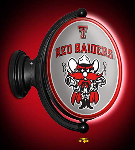 (Shop Grimm TTU Texas Tech Red Raiders Rotating LED Wall Sign Featuring Their Mascot Raider Red - Made in USA)