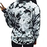 Juniors Girls Elephant Print Round Neck Long Sleeve Casual T Shirt Top Blouse with Pocket (S, grey-1)