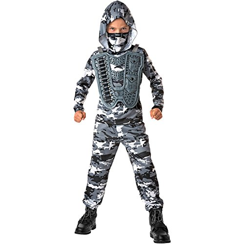 Totally Ghoul Snow Commando Costume, Med -